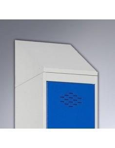 Techo inclinado taquilla metálica 30 cm