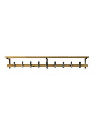Repisa de 1 metro para banco de vestuario en madera de pino
