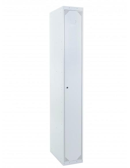 Taquilla metálica de 1 puerta ancho 40 cm. 1 módulo. GRIS