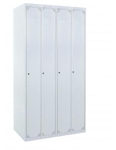 Taquilla metálica 1 puerta GRIS ancho 25cm 4 módulos