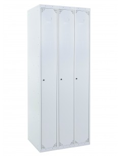 Taquilla metálica 1 puerta GRIS ancho 30cm 3 módulos Ekanet