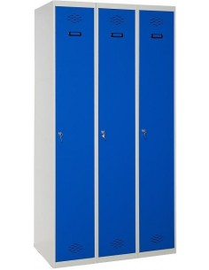 Taquilla metálica 1 puerta AZUL ancho 30cm 3 módulos
