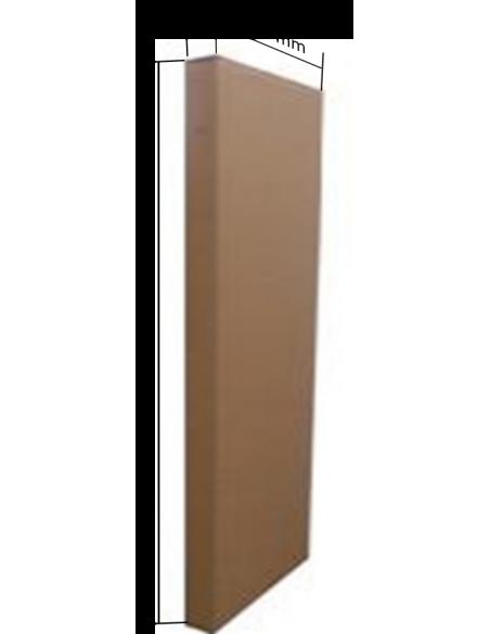 Taquilla metálica de 4 puertas ancho 30 cm. Medidas caja de cartón.