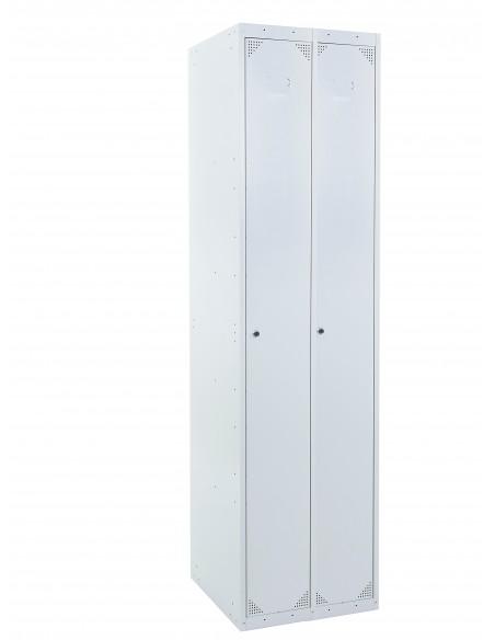 Taquilla metálica 1 puerta gris ancho 30cm 2 modulos Ekanet