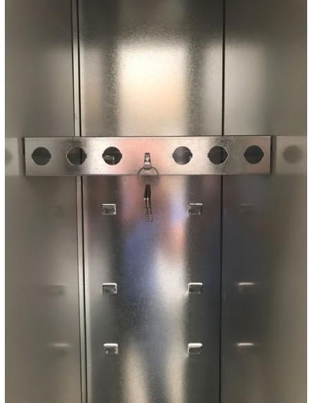 Taquilla 1 puerta gris ancho 40 cm. 1 módulo.