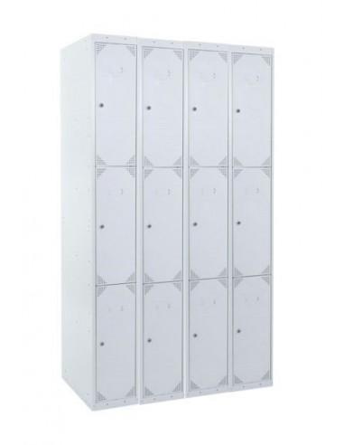 taquilla 3 puertas gris ancho 30cm 4 modulos
