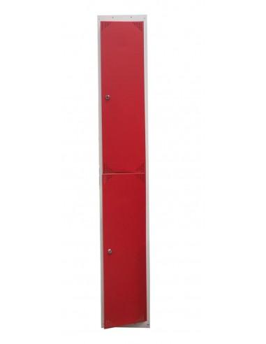 Taquilla metálica 2 puertas rojas ancho 40cm 1 módulo