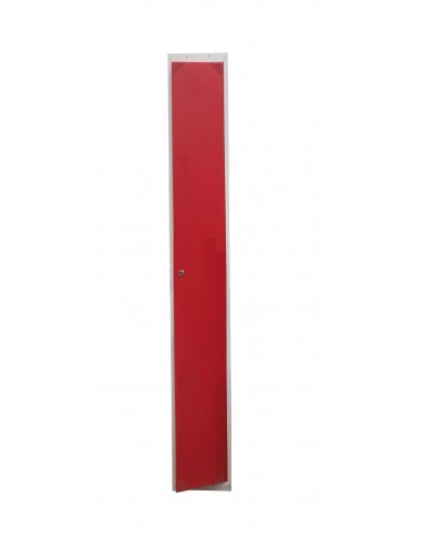 Taquilla 1 puerta ROJA ancho 30cm 1 módulo.