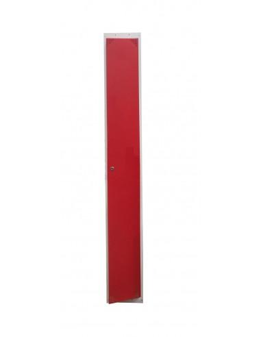 Taquilla metálica 1 puerta ROJA ancho 40cm. 1 módulo.